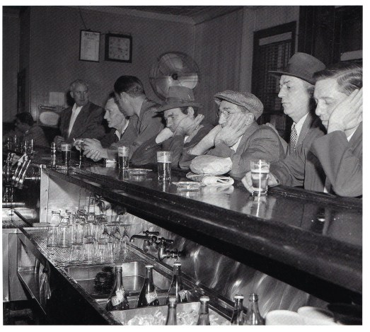 men at a bar